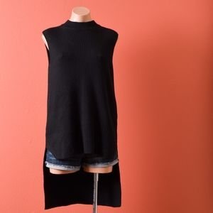 COS High Low hem Sleeveless Wool Knit Sweater S